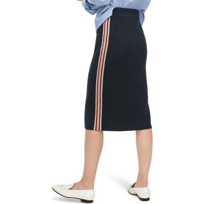 J.crew Side Stripe Sweater Knit Pencil Skirt, Green