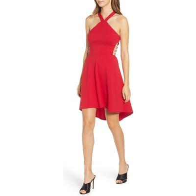 Speechless High/low Scuba Crepe Dress, Red