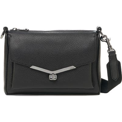 Botkier Valentina Leather Crossbody Bag - Black