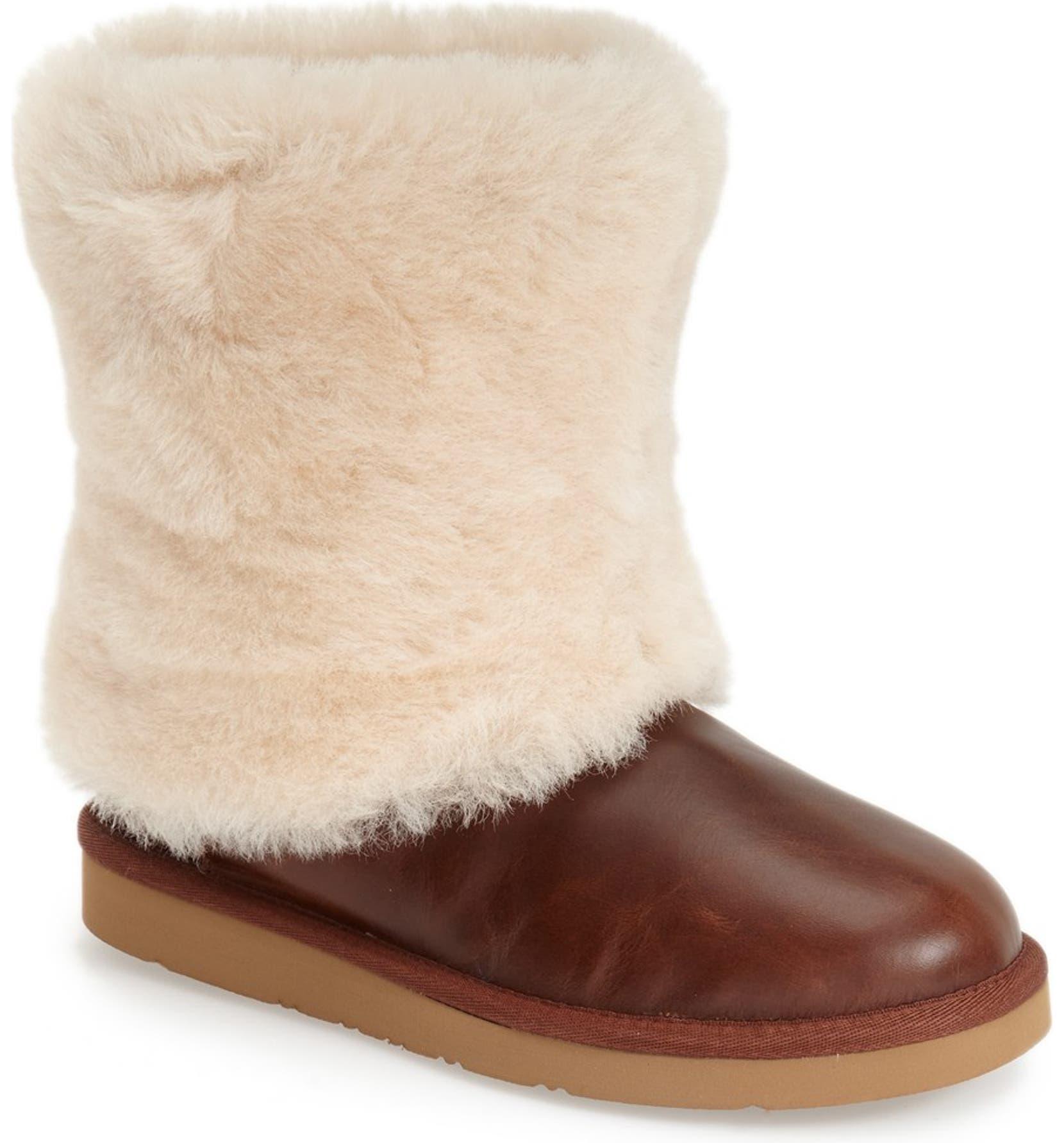 b81e1dc136e 'Patten' Water Resistant Sheepskin Cuff Boot