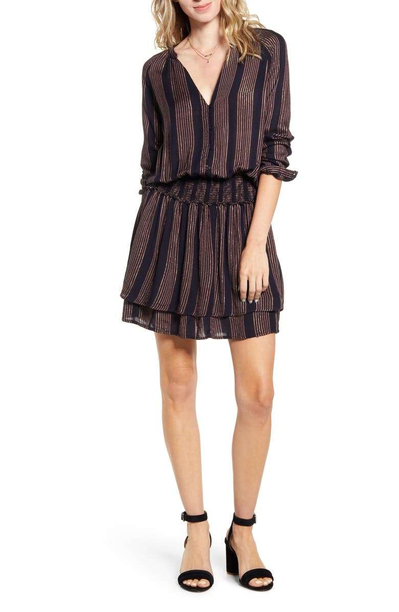 RAILS Jasmine Long Sleeve Dress, Main, color, MIDAS STRIPE