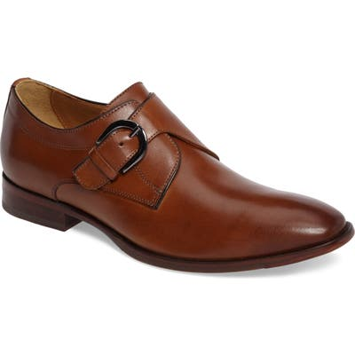Johnston & Murphy Mcclain Monk Strap Shoe, Brown