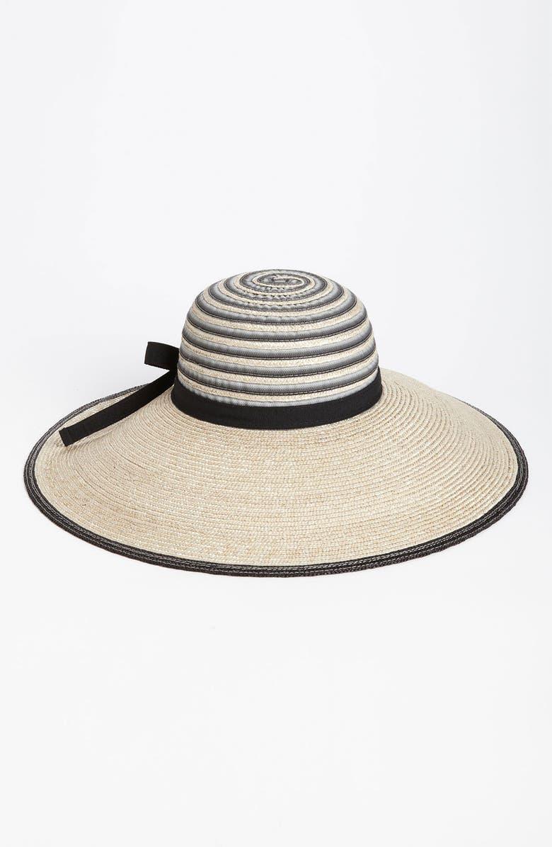 NORDSTROM Dégradé Ribbon Sun Hat, Main, color, 001