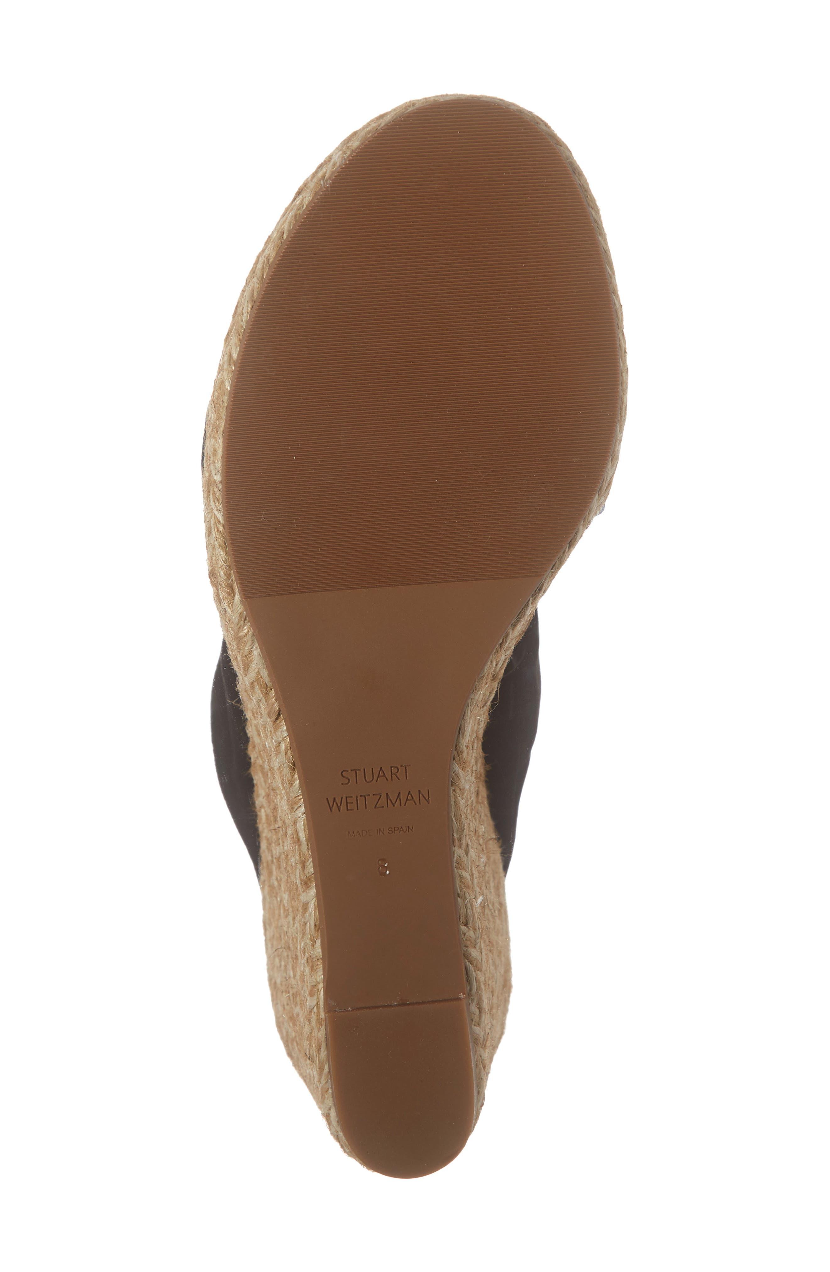 ,                             Sarina Espadrille Wedge Slide Sandal,                             Alternate thumbnail 6, color,                             BLACK SUEDE