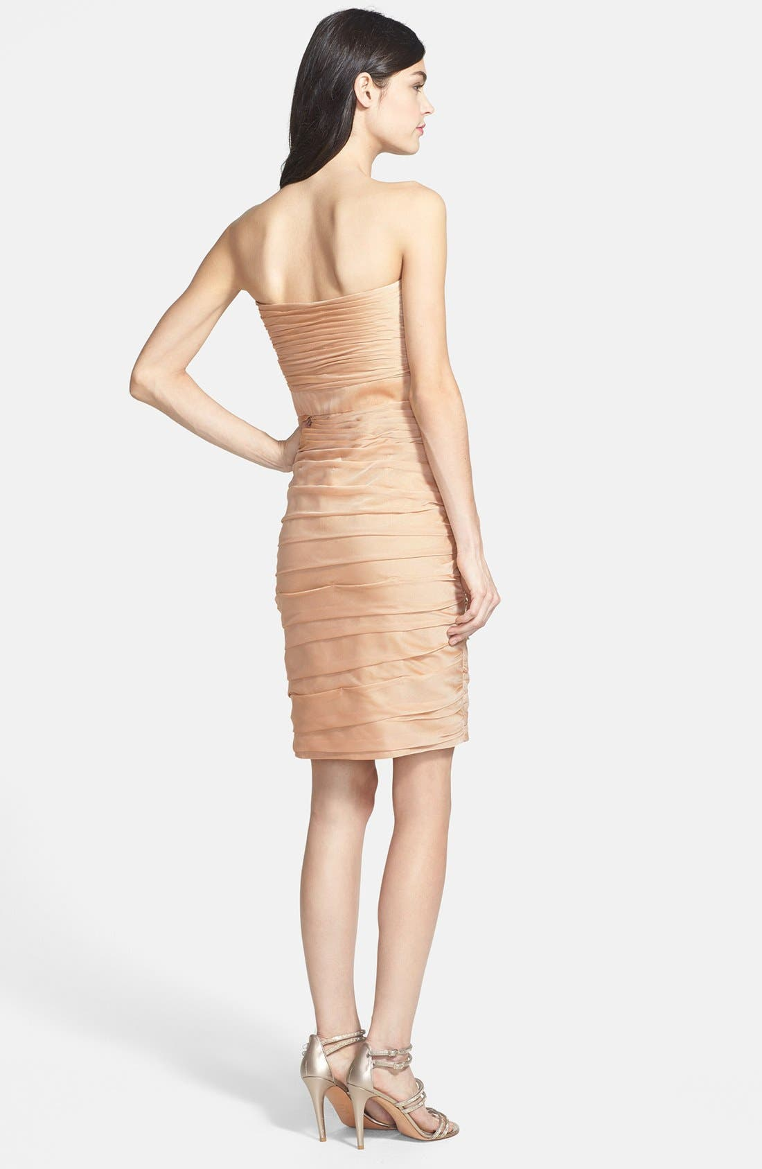 ,                             Ruched Strapless Cationic Chiffon Dress,                             Alternate thumbnail 28, color,                             289