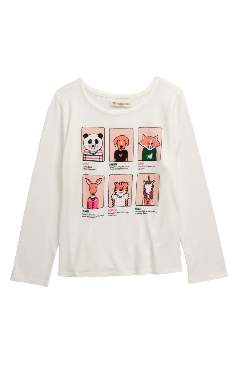 TUCKER + TATE Long Sleeve Graphic Tee, Main, color, IVORY EGRET YEARBOOK