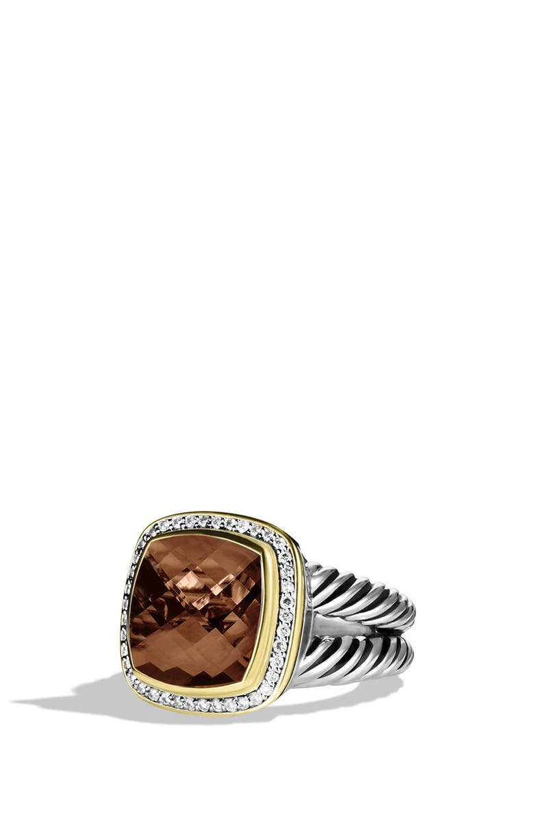 DAVID YURMAN 'Albion' Ring with Smoky Quartz and Diamonds, Main, color, 200