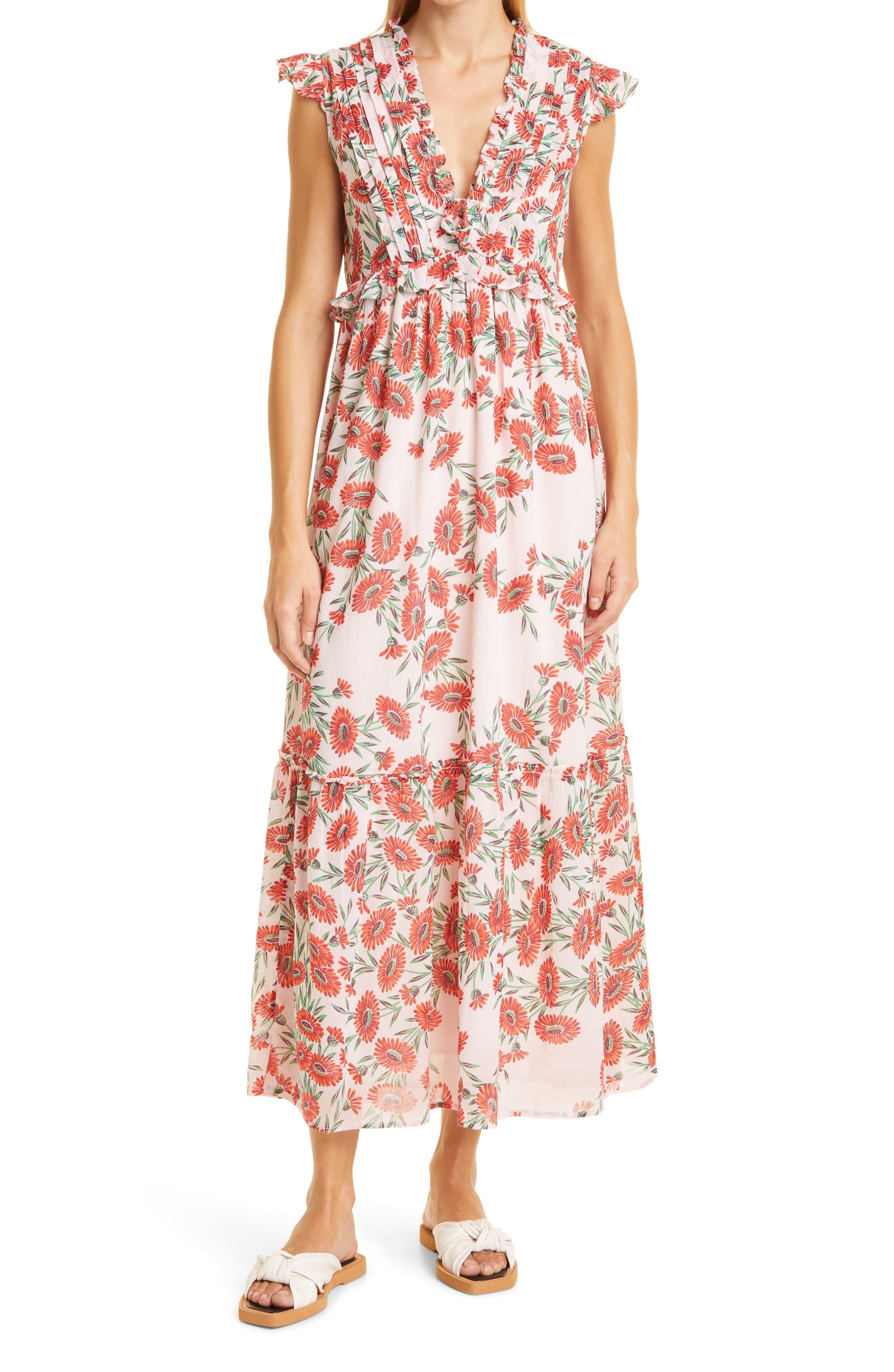 Constance Floral Organic Cotton Dress