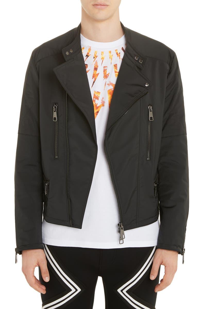 Neil Barrett Jersey Moto Jacket