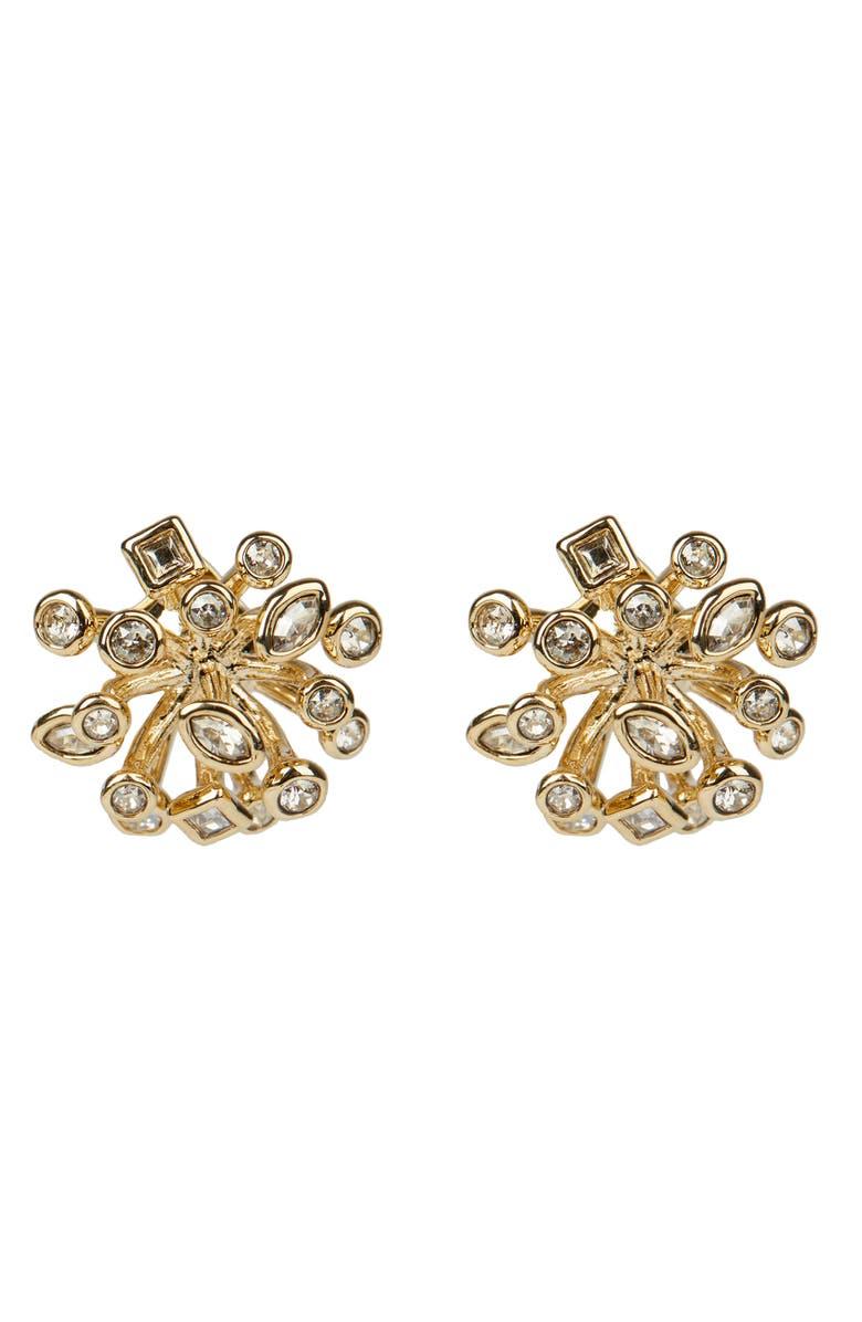 ALEXIS BITTAR Asteria Nova Crystal Burst Stud Earrings, Main, color, GOLD