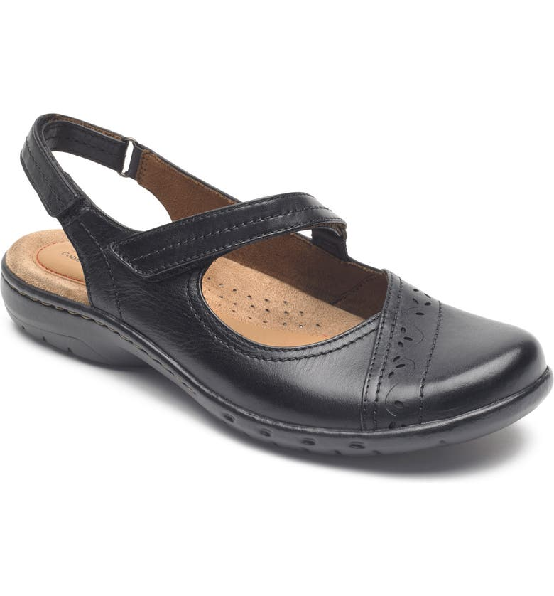 ROCKPORT COBB HILL Penfield Slingback Mary Jane, Main, color, BLACK LEATHER