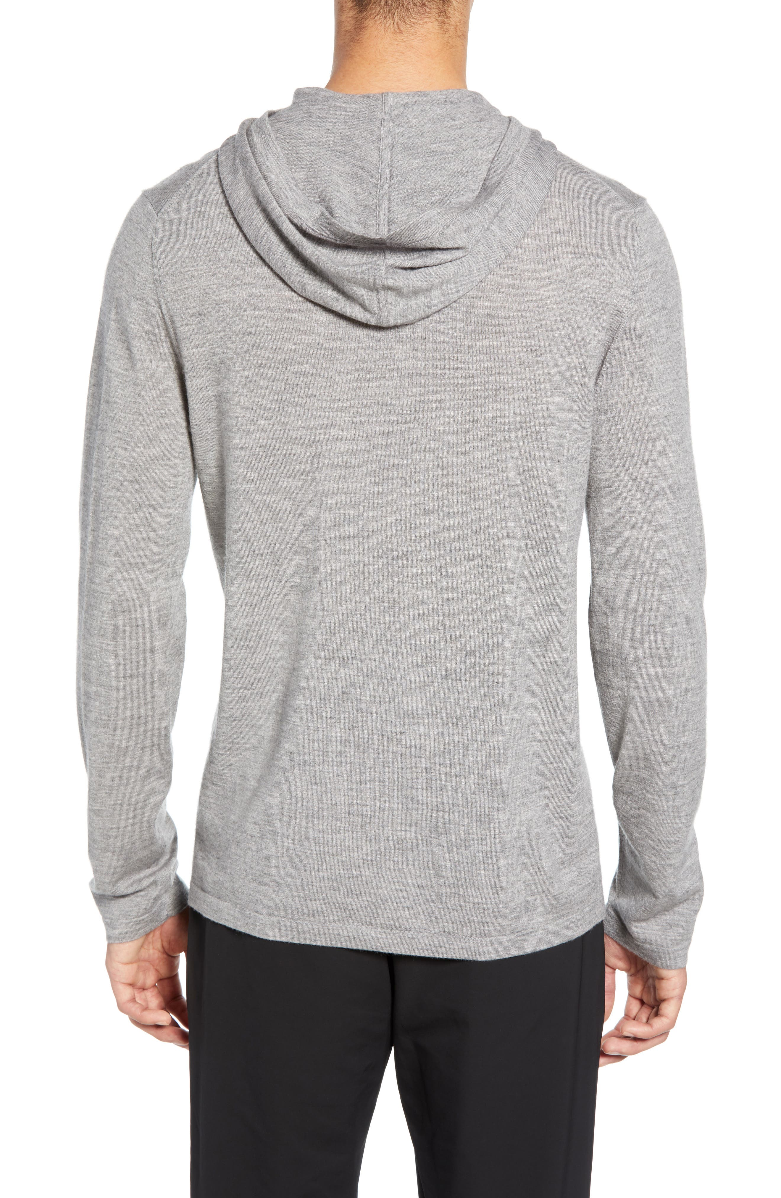 ,                             Wool & Cashmere Pullover Hoodie,                             Alternate thumbnail 2, color,                             H GREY