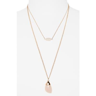 Bp. Set Of 2 Stone Pendant Necklaces