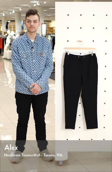Classic Fit Side Stripe Cropped Jogger Pants, sales video thumbnail