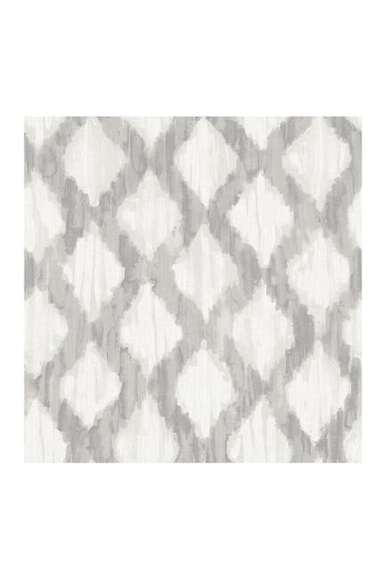 Image of WallPops! Grey Floating Trellis Peel and Stick Wallpaper