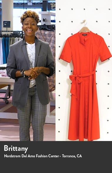 Augustina Belted Midi Shirtdress, sales video thumbnail