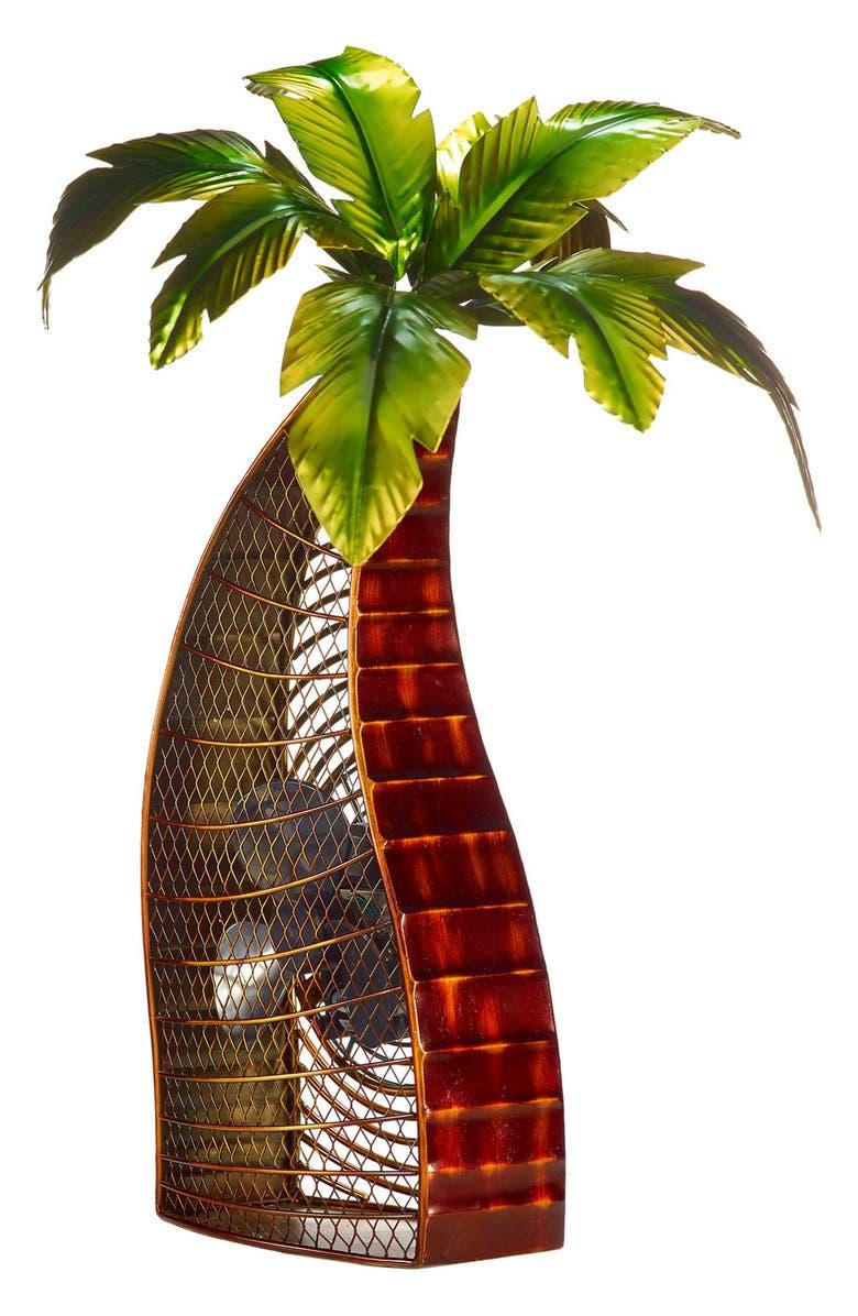 DECOBREEZE Palm Tree Figurine Fan, Main, color, 300