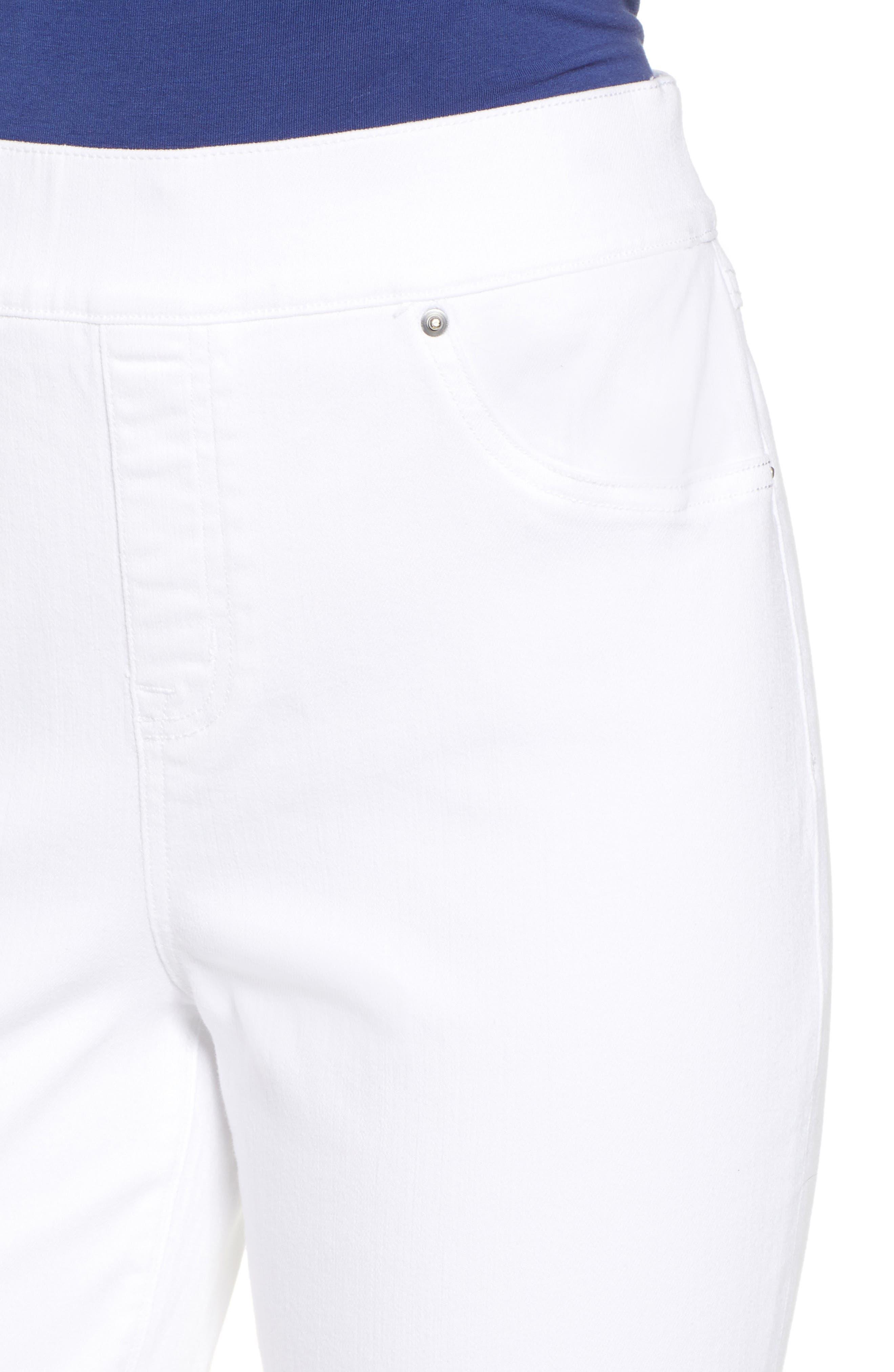 ,                             Distressed Denim Leggings,                             Alternate thumbnail 5, color,                             WHITE