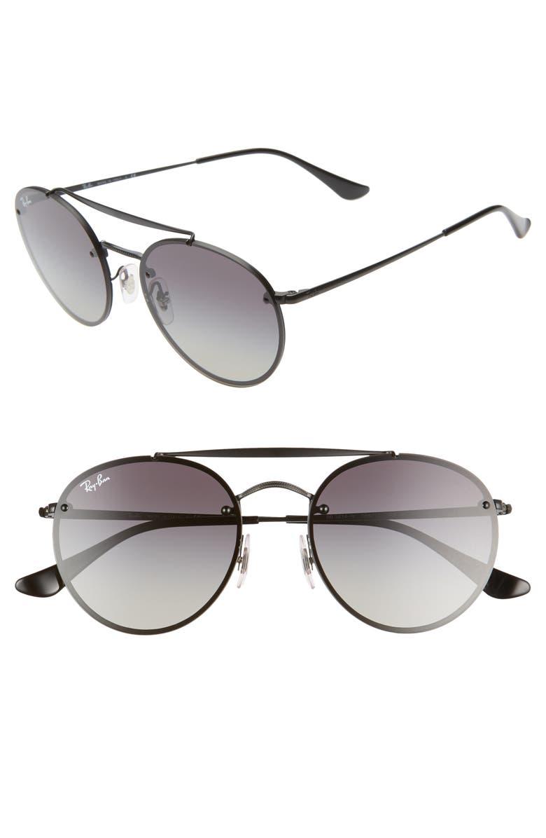 RAY-BAN 54mm Round Aviator Sunglasses, Main, color, 001