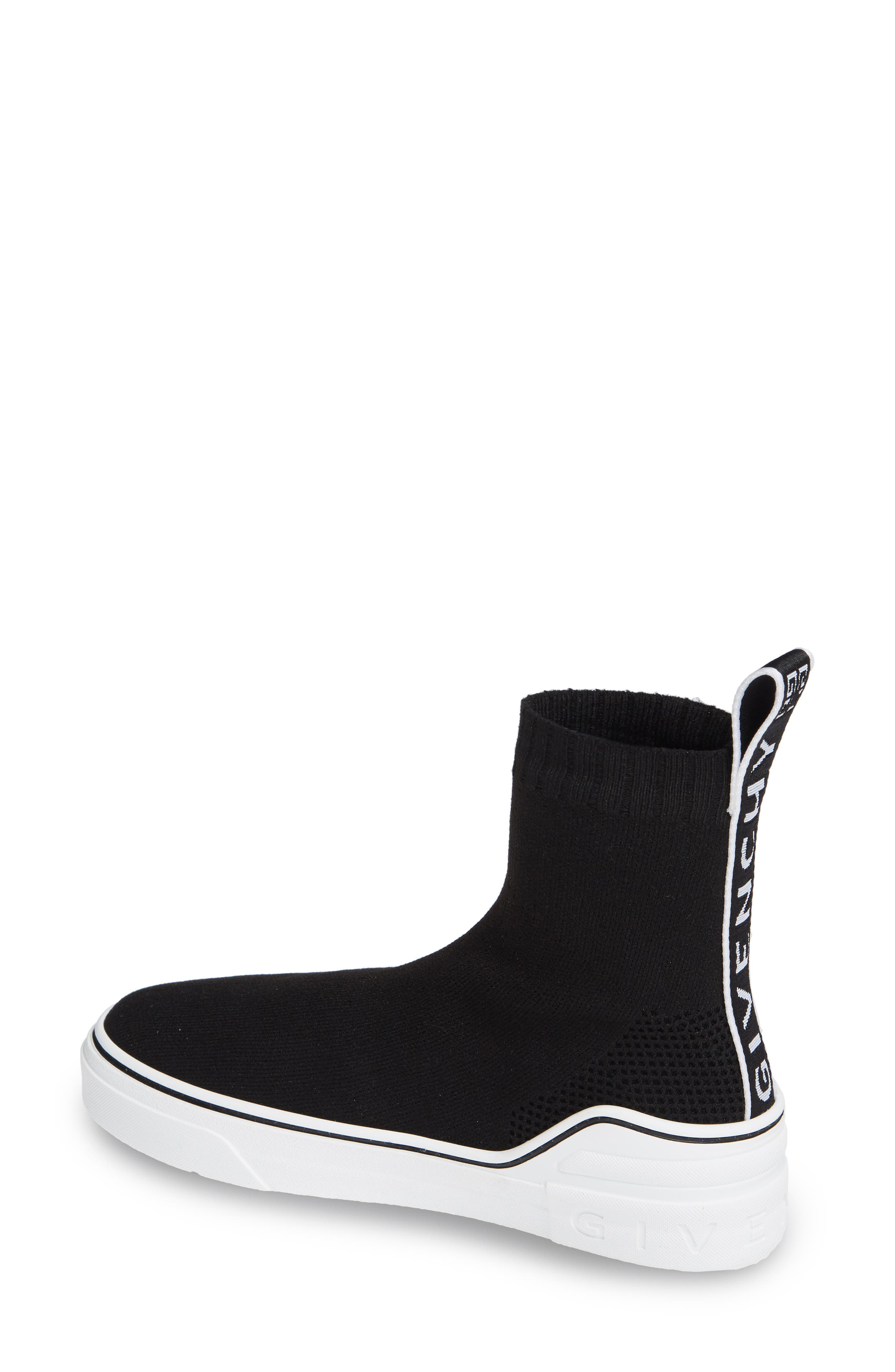 ,                             George V Hi Sock Sneaker,                             Alternate thumbnail 2, color,                             BLACK