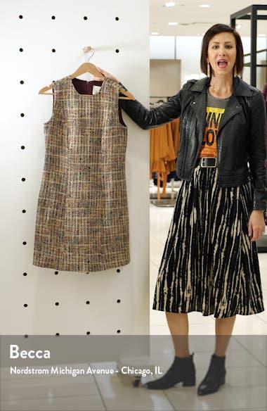 Ramona Sleeveless Tweed Shift Dress, sales video thumbnail