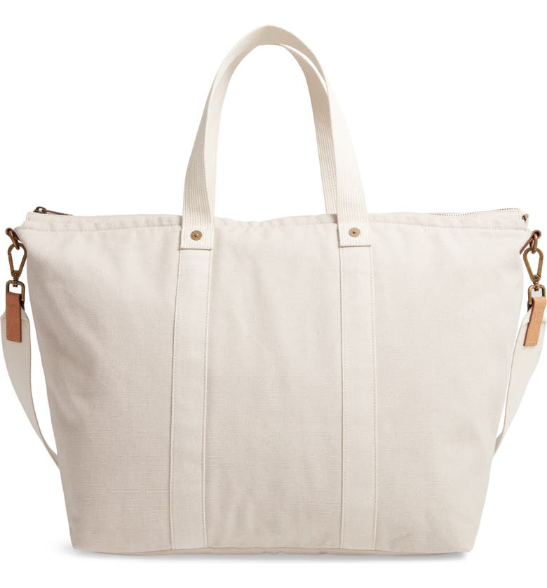 FEED Overnighter Canvas Tote, Main, color, 020