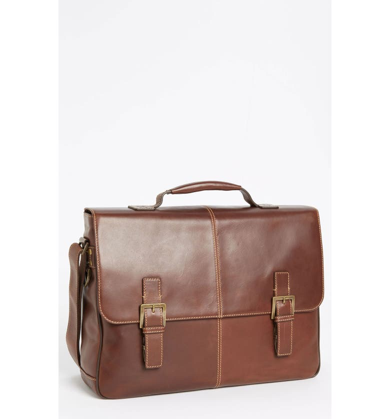 BOCONI 'Bryant' Leather Briefcase, Main, color, ANTIQUE MAHOGANY