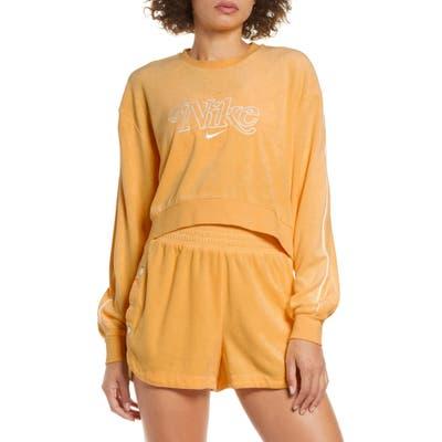 Nike Sportswear Retro Femme Terry Crewneck Crop Sweatshirt