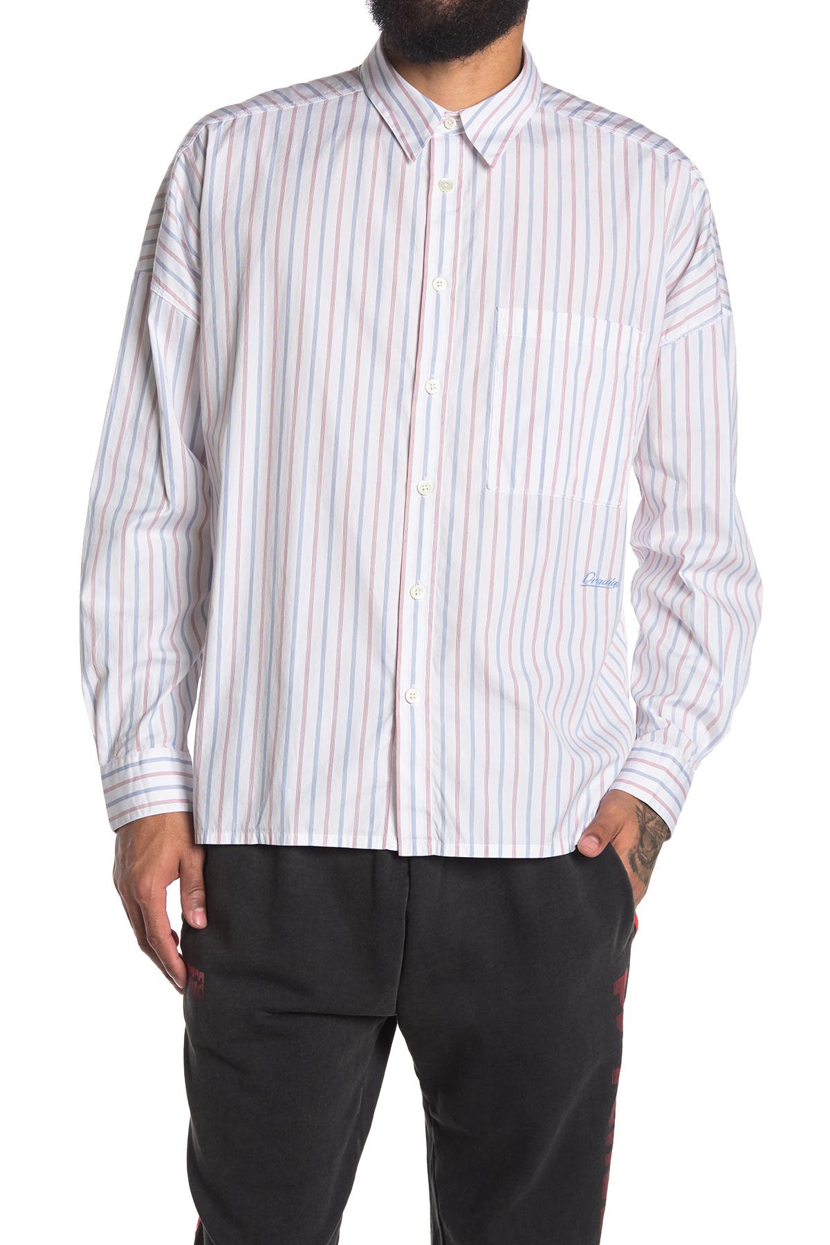 Image of OVADIA AND SONS Lex Oversized Stripe Shirt