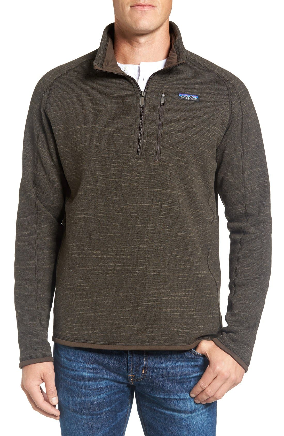 ,                             Better Sweater Quarter Zip Pullover,                             Main thumbnail 118, color,                             200