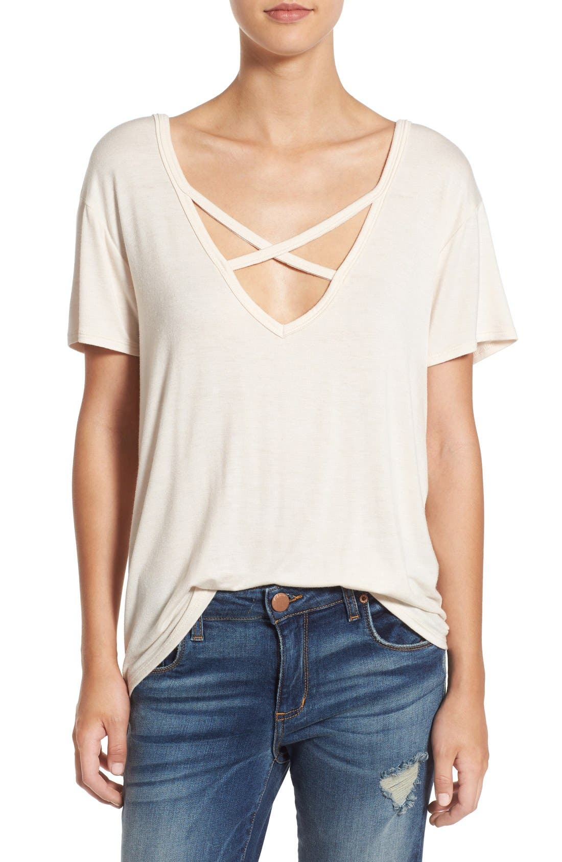 ,                             Cross Front Tee,                             Main thumbnail 15, color,                             250