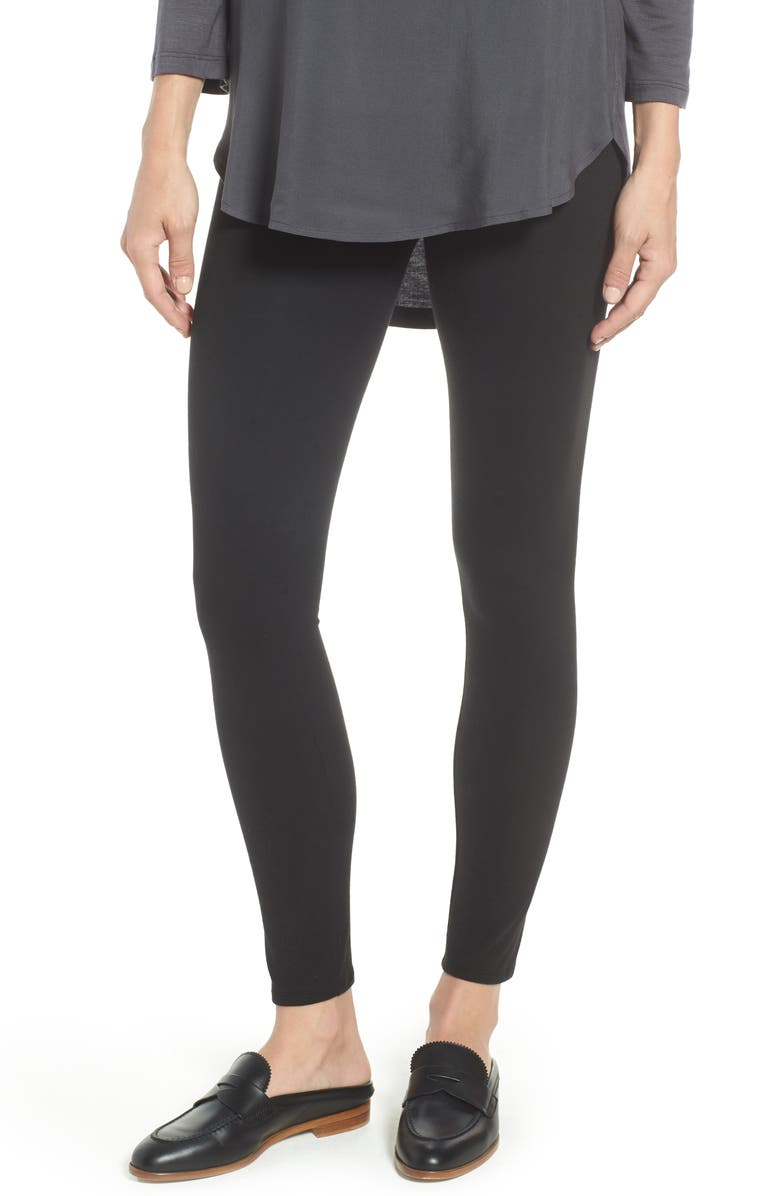 NORDSTROM Go-To High Waist Leggings, Main, color, BLACK