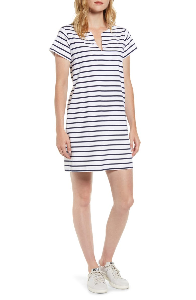 VINEYARD VINES Stripe Knit Tunic Dress, Main, color, DEEP BAY