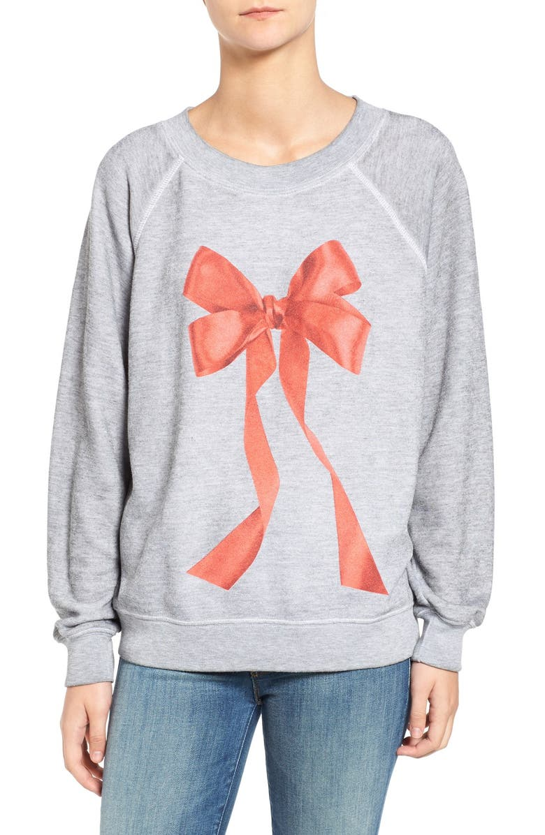 WILDFOX I'm the Present Pullover, Main, color, 020