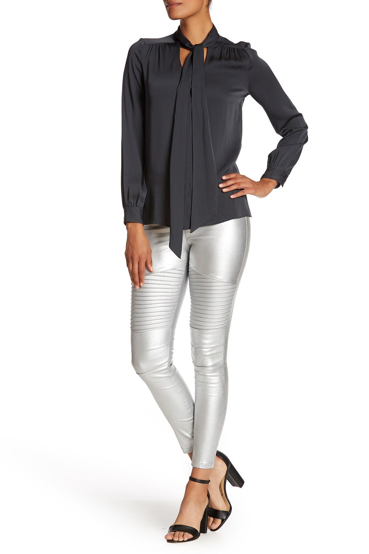 Image of OOBERSWANK Coated High Waisted Moto Leggings