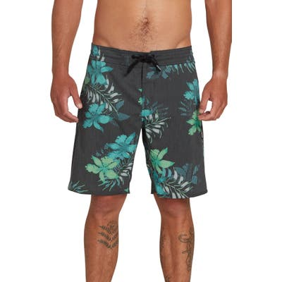Volcom Wave Fayer Stoney Board Shorts, Black
