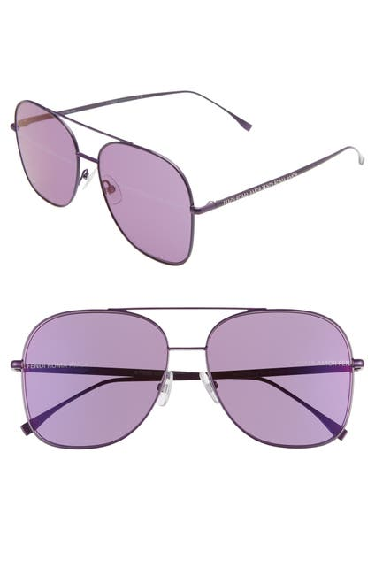 Image of FENDI 59mm Holographic Aviator Sunglasses