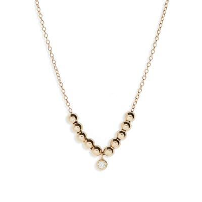 Zoe Chicco Diamond Charm Beaded Necklace