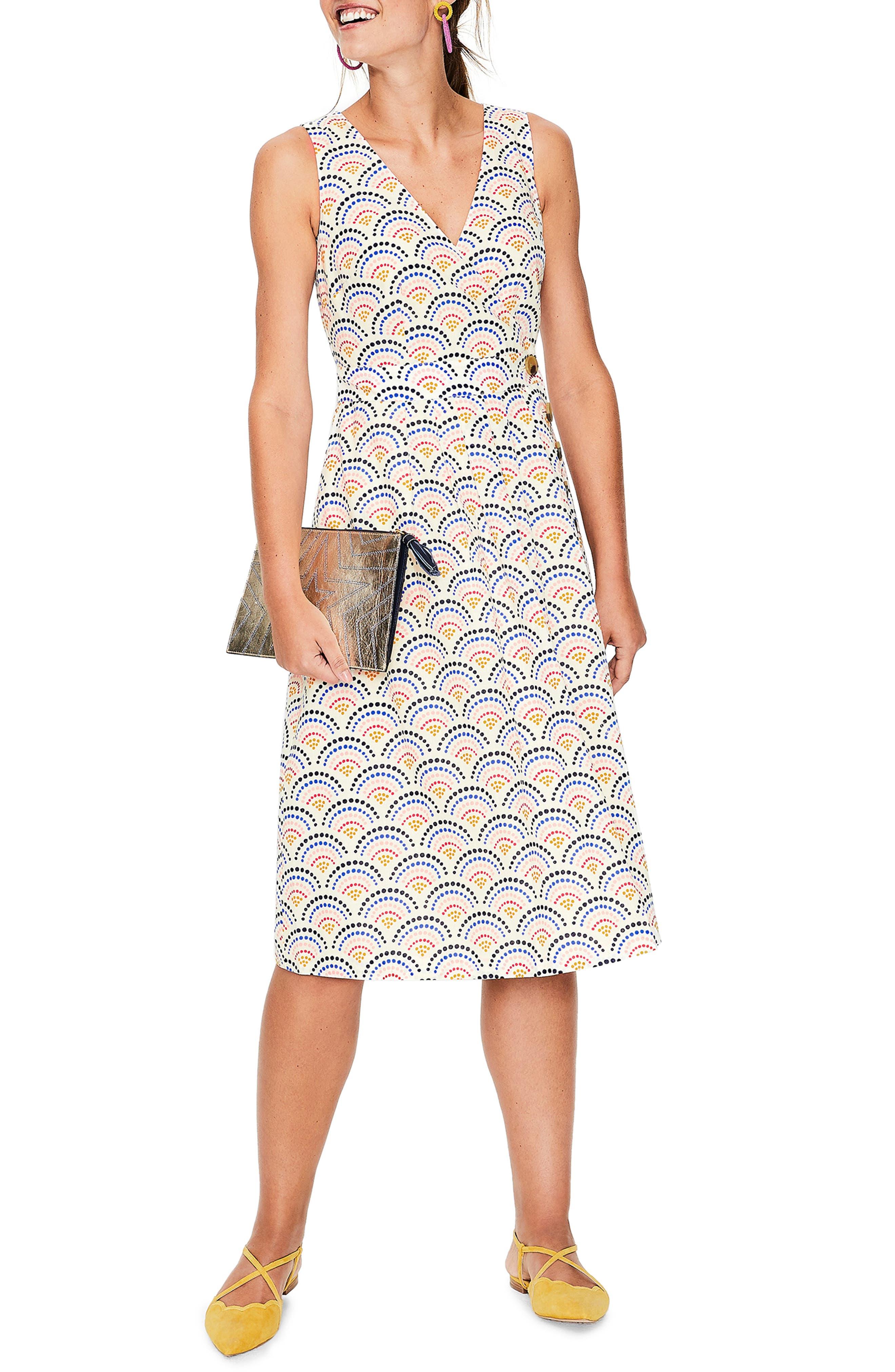 women's boden arwen wrap dress, size 18 (similar to 16w-18w) - ivory
