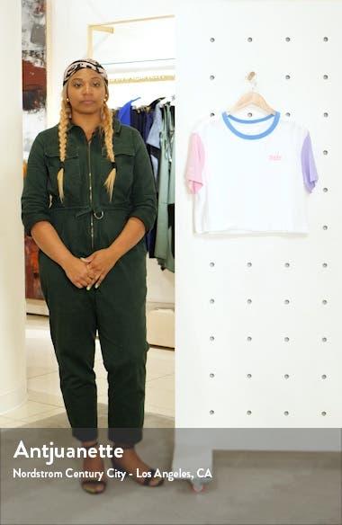 Sportswear Colorblock Crop Tee, sales video thumbnail