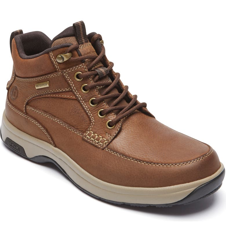 DUNHAM 8000 Midland Waterproof Work Boot, Main, color, TAN LEATHER