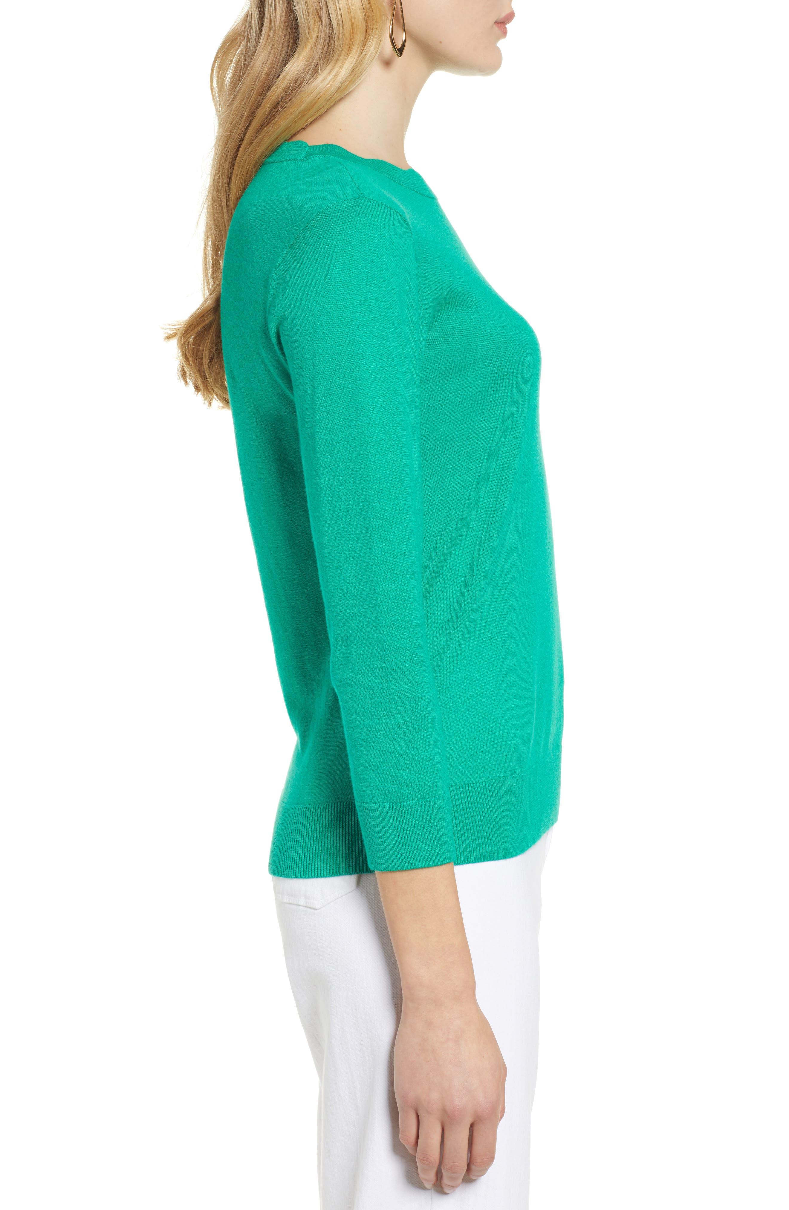 ,                             Scallop Neck Sweater,                             Alternate thumbnail 15, color,                             310