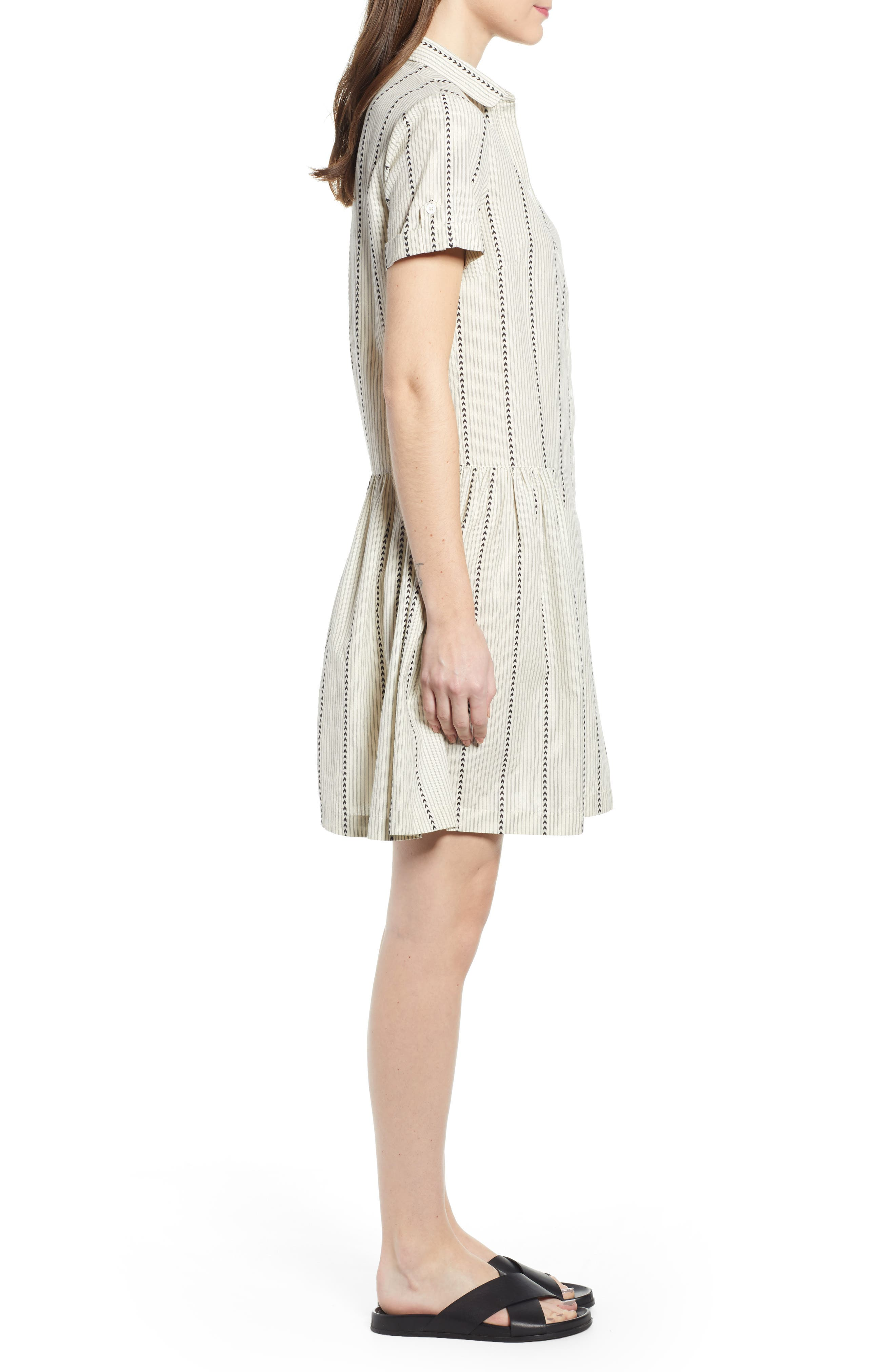 ,                             Damsel x THE ODELLS Easy Button-Up Cotton Dress,                             Alternate thumbnail 4, color,                             250