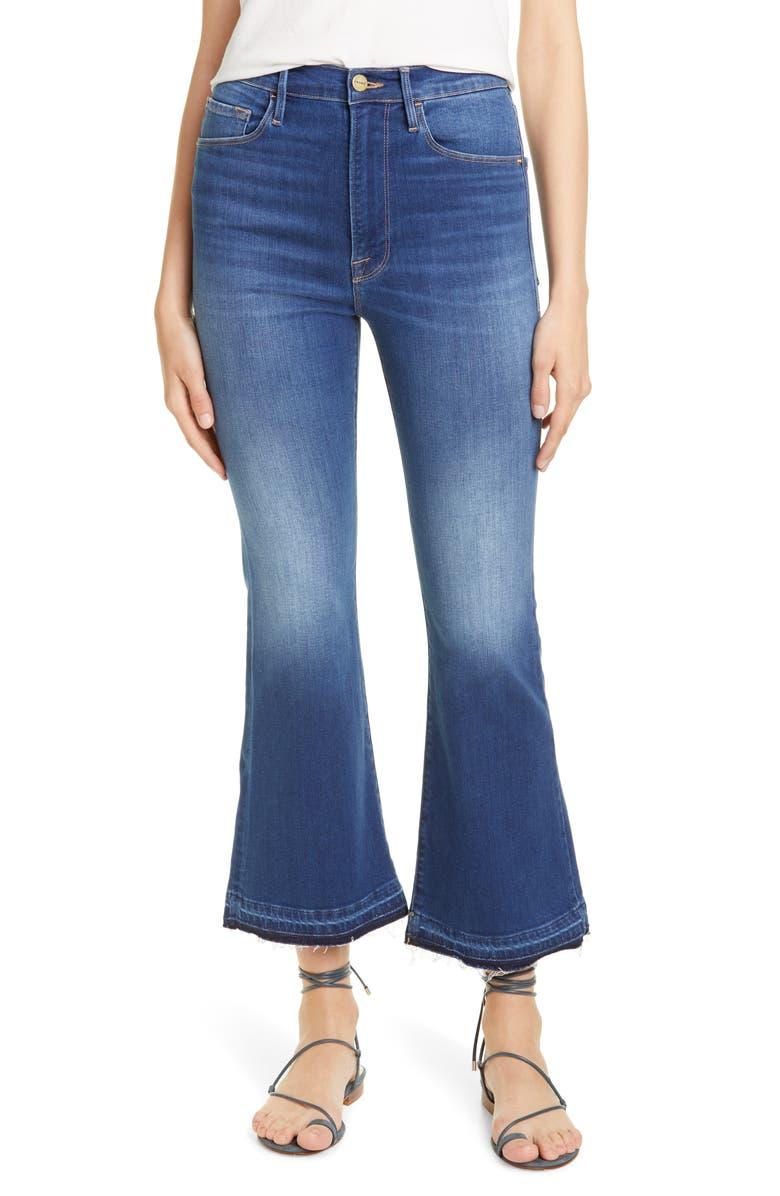FRAME Le Crop High Waist Release Hem Flare Jeans, Main, color, 420