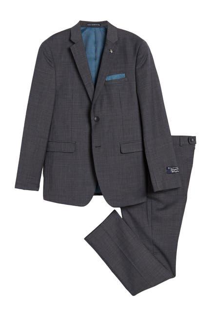 Image of Original Penguin Charcoal Solid Two Button Notch Lapel Suit