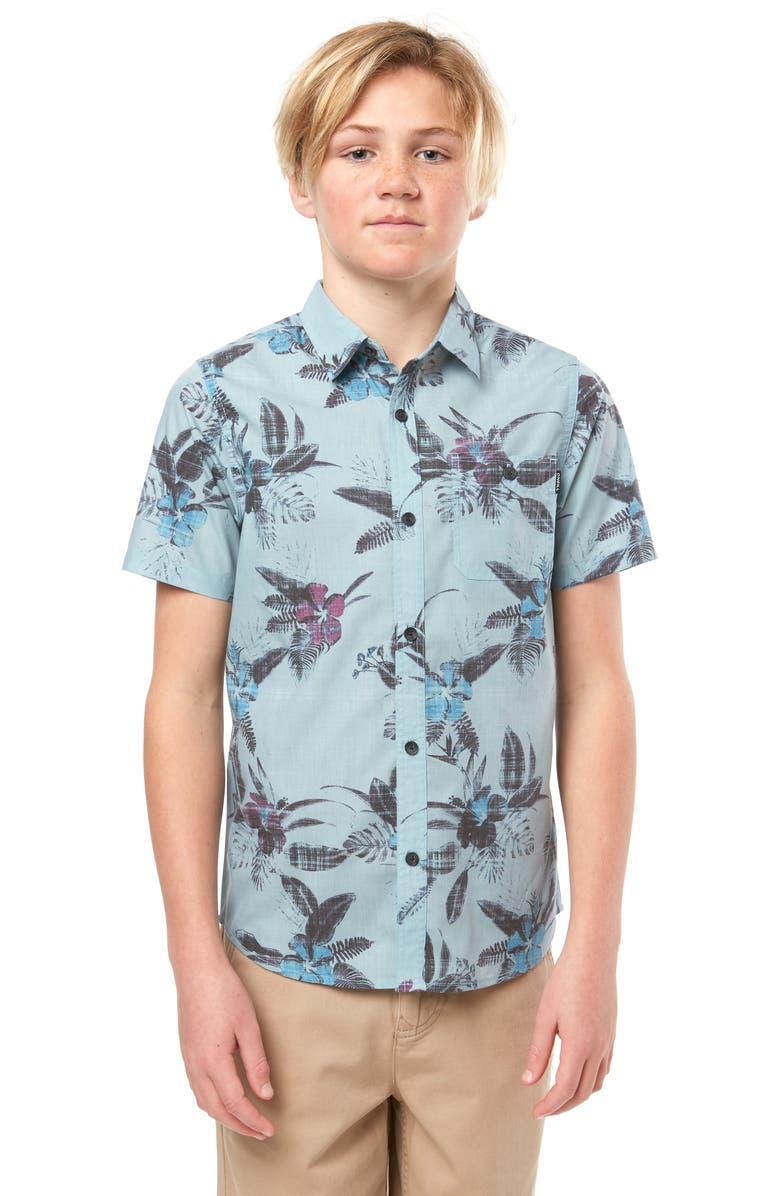 O'NEILL Fiiore Tropical Print Button-Up Shirt, Main, color, 400