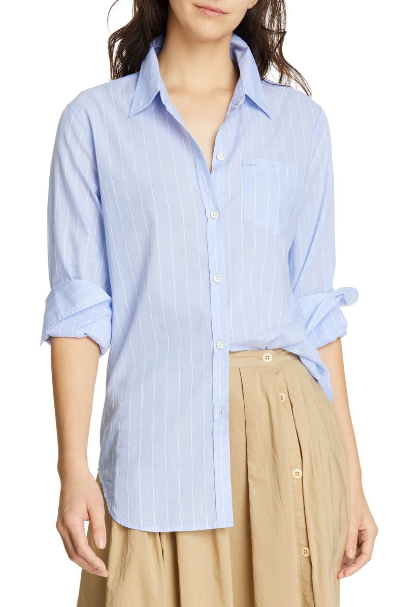 ALEX MILL Standard Stripe Cotton Blouse, Main, color, 461