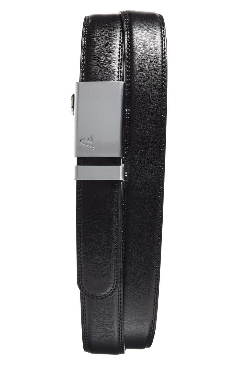 MISSION BELT 'Alloy' Leather Belt, Main, color, 001