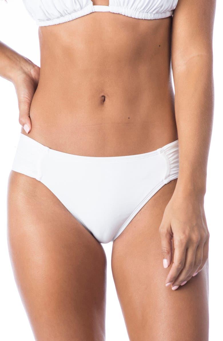 LA BLANCA Island Goddess Hipster Bikini Bottoms, Main, color, 100