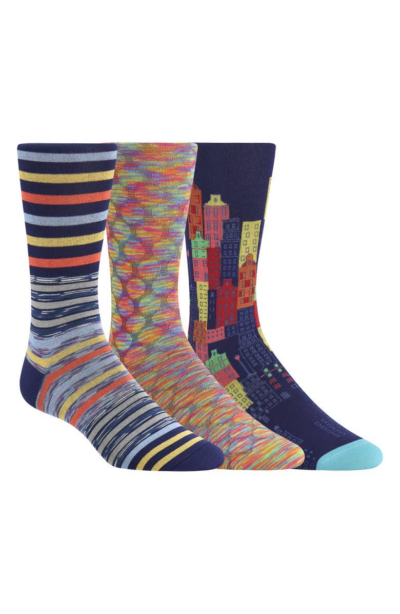 BUGATCHI 3-Pack Sock Gift Set, Main, color, 408
